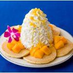 <大人気>Eggs 'n Things 期間限定のガーリックシュリンプと「マンゴーパンケーキ with エアーチーズケーキ」♡